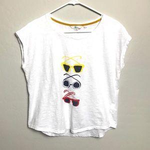 Boden Small Sunglasses Summer T-Shirt